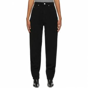 Isabel Marant Etoile Black Corduroy Corsyv Jeans  - 02FK Faded - Size: 24