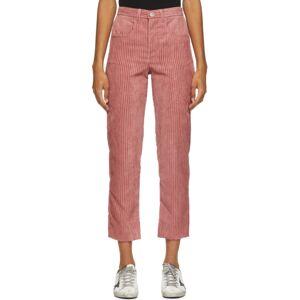 Isabel Marant Etoile Pink Corduroy Beldanae Trousers  - 40RW Rose-2 - Size: 24