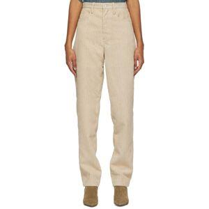 Isabel Marant Etoile Beige Corduroy Decorsy Trousers  - 90BE Beige - Size: 24