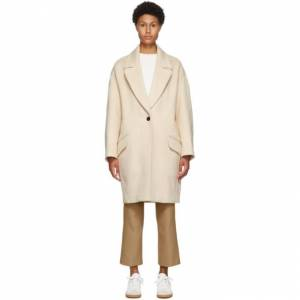 Isabel Marant Beige Cashmere and Wool Ego Coat  - 90BE Beige - Size: Extra Small