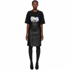 VETEMENTS Black Cut Up Tailored Skirt  - Black - Size: 26