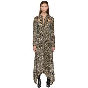 Rosetta Getty Brown Twist Knot Dress  - Multi - Size: Medium
