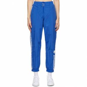 adidas Originals Blue Paolina Russo Edition Striped Track Pants  - ROYAL BLUE - Size: 30