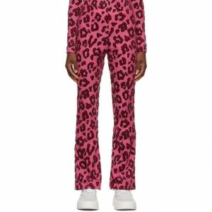 Ambush Pink Wool Leopard Lounge Pants  - Pink - Size: 26