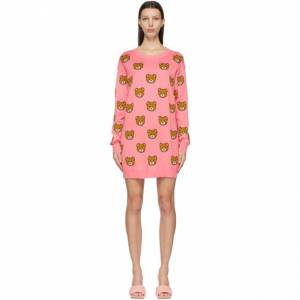 Moschino Pink Knitted Allover Teddy Dress  - V3207 Pink - Size: Small