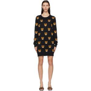 Moschino Black Knitted Allover Teddy Dress  - V3555 Black - Size: Medium