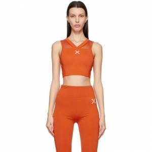 Kenzo Orange Logo X Sports Bra  - 16 Deep Ora - Size: 32