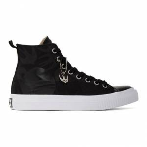 McQ Alexander McQueen Black Plimsoll High Sneakers  - 1000 BLACK - Size: 42