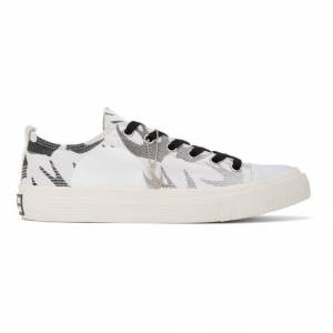 McQ Alexander McQueen White and Black Plimsoll Low Sneakers  - 9061 WHITE - Size: 44