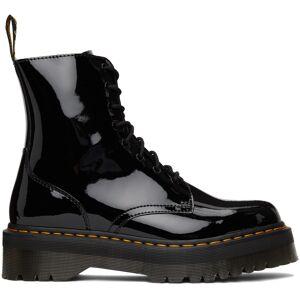 Dr. Martens Black Patent Lamper Boots  - Black - Size: 5