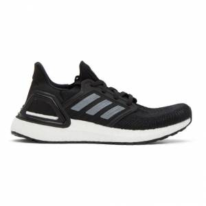 adidas Originals Black and White Prime Blue UltraBOOST 20 Sneakers  - Blk/Wh - Size: 41