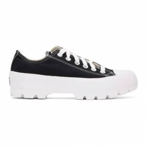 Converse Black Chuck Taylor All Star Lugged OX Low Sneakers  - BLK/WHT/WHT - Size: 39.5