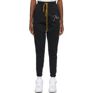 Rhude SSENSE Exclusive Black Logo Lounge Pants  - Black/White - Size: 24
