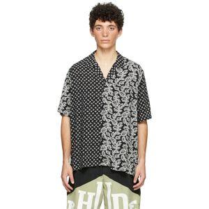 Rhude SSENSE Exclusive Black Bandana Short Sleeve Shirt  - BLACK - Size: Extra Small