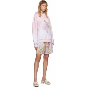I'm Sorry by Petra Collins SSENSE Exclusive Pink & White Graphic Pullover Hoodie  - Pink/White - Size: Small