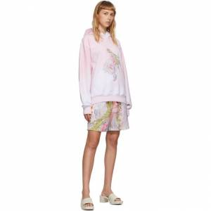 Im Sorry by Petra Collins SSENSE Exclusive Pink and White Graphic Pullover Hoodie  - Pink/White - Size: Small