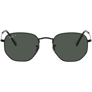 Ray-Ban Black Flat Hexagonal Sunglasses  - 002/58 BLK - Size: UNI