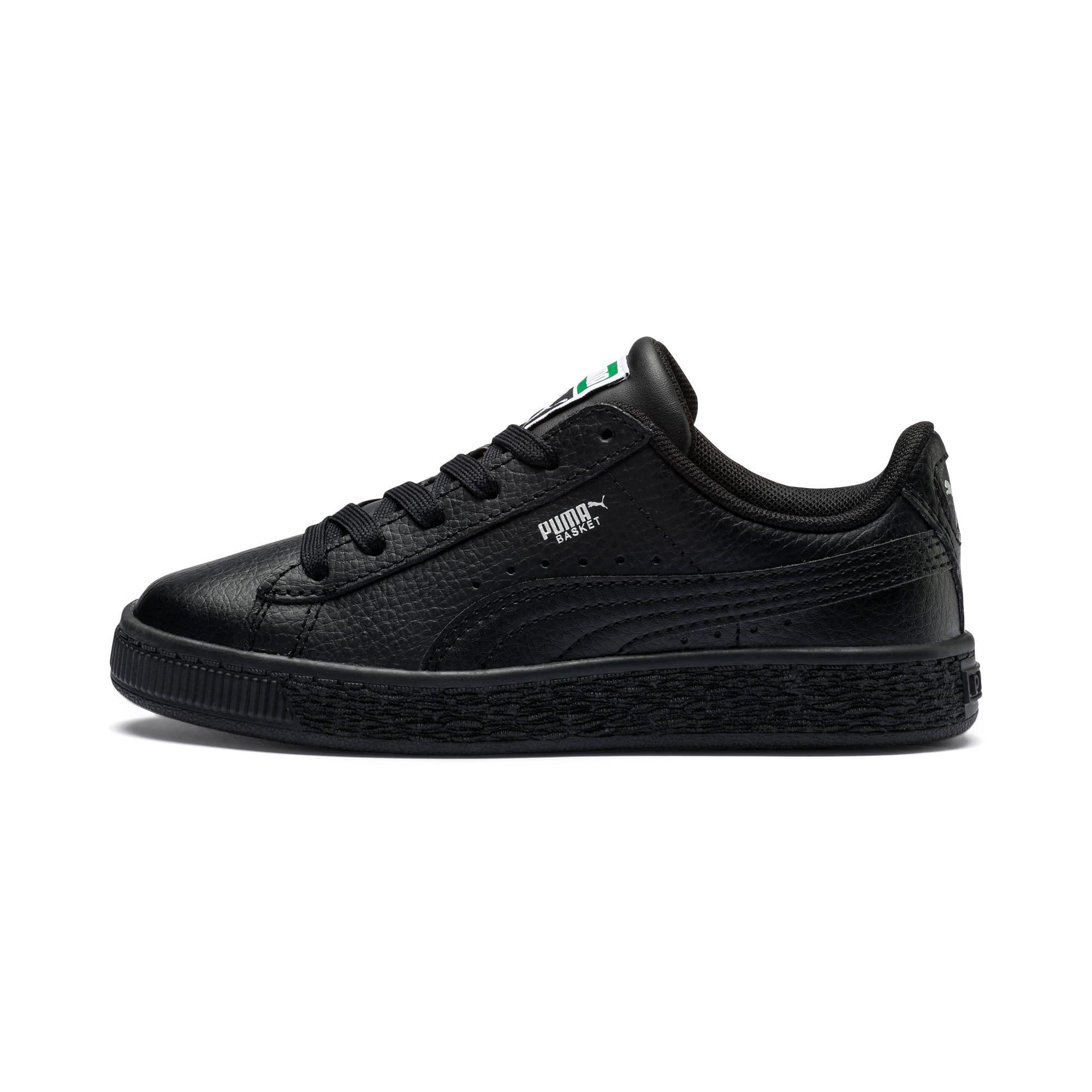 Puma Basket Classic Kids' Trainers, Black, size 10.5, Shoes