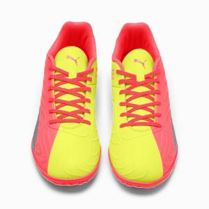 Puma One 20.4 IT Men's Football Boots, Peach/Fizzy Yellow/Silver, size 10.5, Shoes