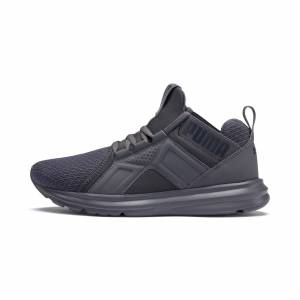 Puma Enzo Youth Trainers, Iron Gate, size 5, Shoes