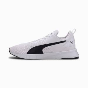 Puma Women's PUMA Flyer Running Shoes, White/Black, size 10, Shoes