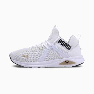 Puma Enzo 2 Men's Running Shoes, White/Gold/Black, size 12, Shoes
