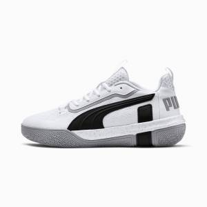 Puma Women's PUMA Legacy Low Basketball Shoe Sneakers,  White/Black, size 12, Shoes