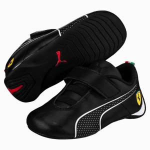 Puma SF Future Cat Ultra V Preschool Shoes, Black/White, size 12.5, Shoes