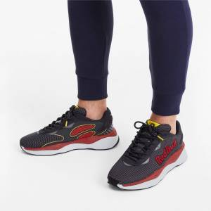 Puma Women's PUMA Red Bull Racing Pure Trainers, Black, size 6, Shoes