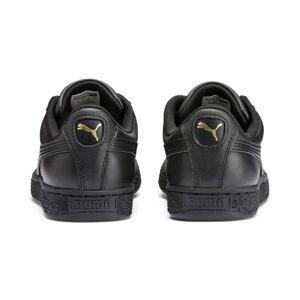Puma Men's PUMA Heritage Basket Classic Trainers, Black/Gold, size 10, Shoes