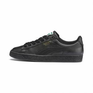 Puma Basket Classic Lfs Men's Trainers, Black/Gold, size 12, Shoes