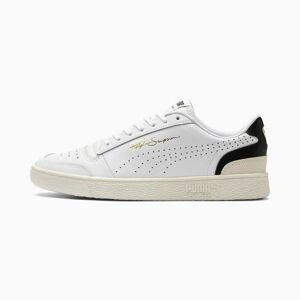Puma Women's PUMA Ralph Sampson Lo Perforated Soft Trainers, White/Black/Whisper White, size 10, Shoes