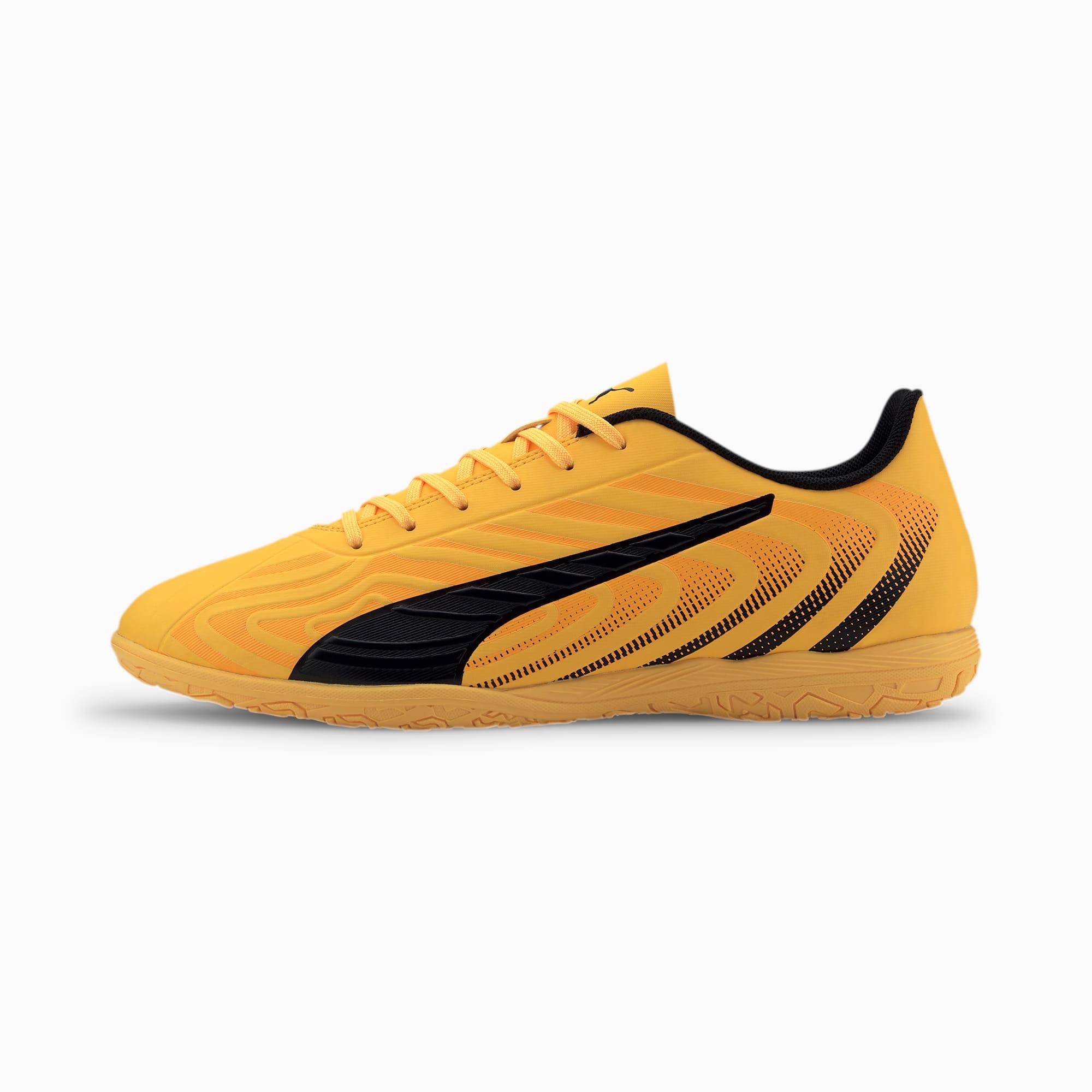Puma One 20.4 IT Men's Football Boots, Yellow/Black/Orange, size 13, Shoes