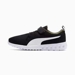 Puma Carson 2 V Preschool Kids' Trainers, Black/Forest Night/White, size 1.5, Shoes