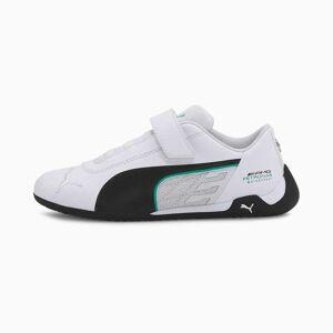 Puma Mercedes R-Cat V Kids' Trainers, White/Black, size 1.5, Shoes
