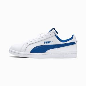 Puma Smash Jr. Trainers,  White/Lapis Blue, size 1.5, Shoes