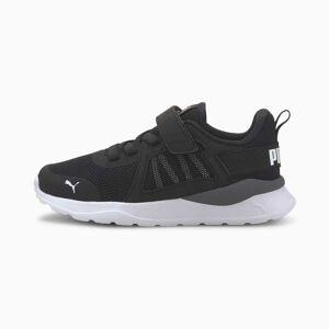 Puma Anzarun AC Kids' Trainers, Black/White, size 1.5, Shoes