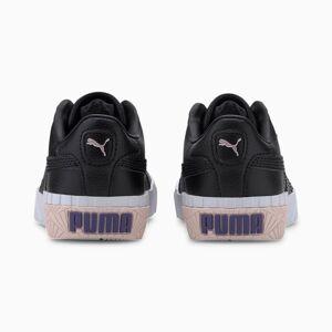 Puma Cali Kids' Trainers, Black/Rosewater/Purple, size 1.5, Shoes