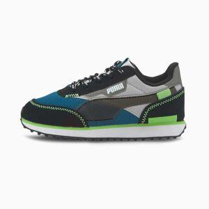 Puma Future Rider City Attack Kids' Trainers, Digi/Blue/Grey Violet, size 13, Shoes