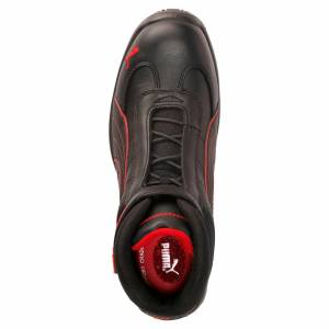 Puma Men's PUMA S3 HRO Moto Protect Safety Shoe Sneakers, Black/Red, size 10, Shoes