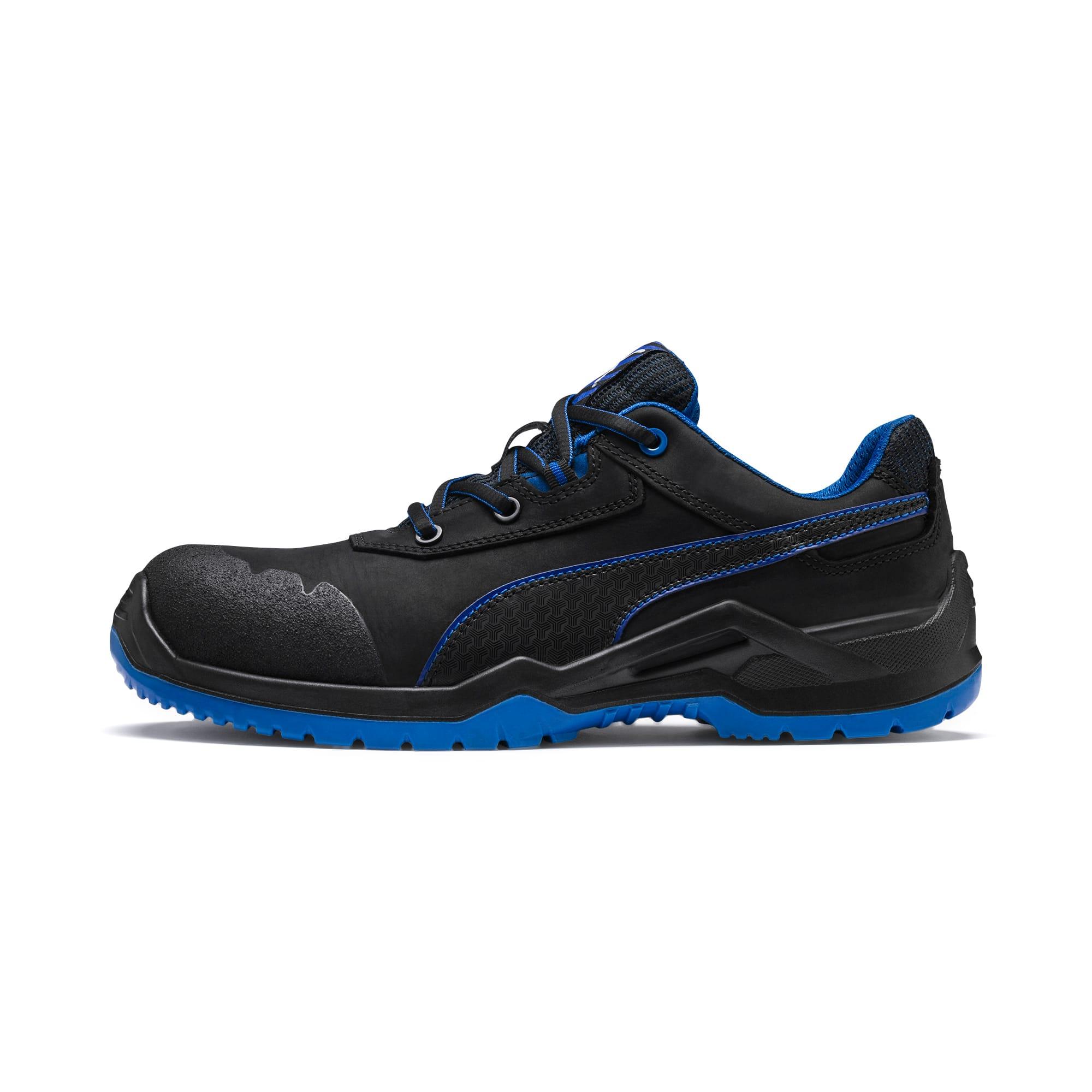 Puma Men's PUMA Safety Boot Argon Blue Low S3 Esd Src,  Schwarz/Blau, size 10.5, Shoes