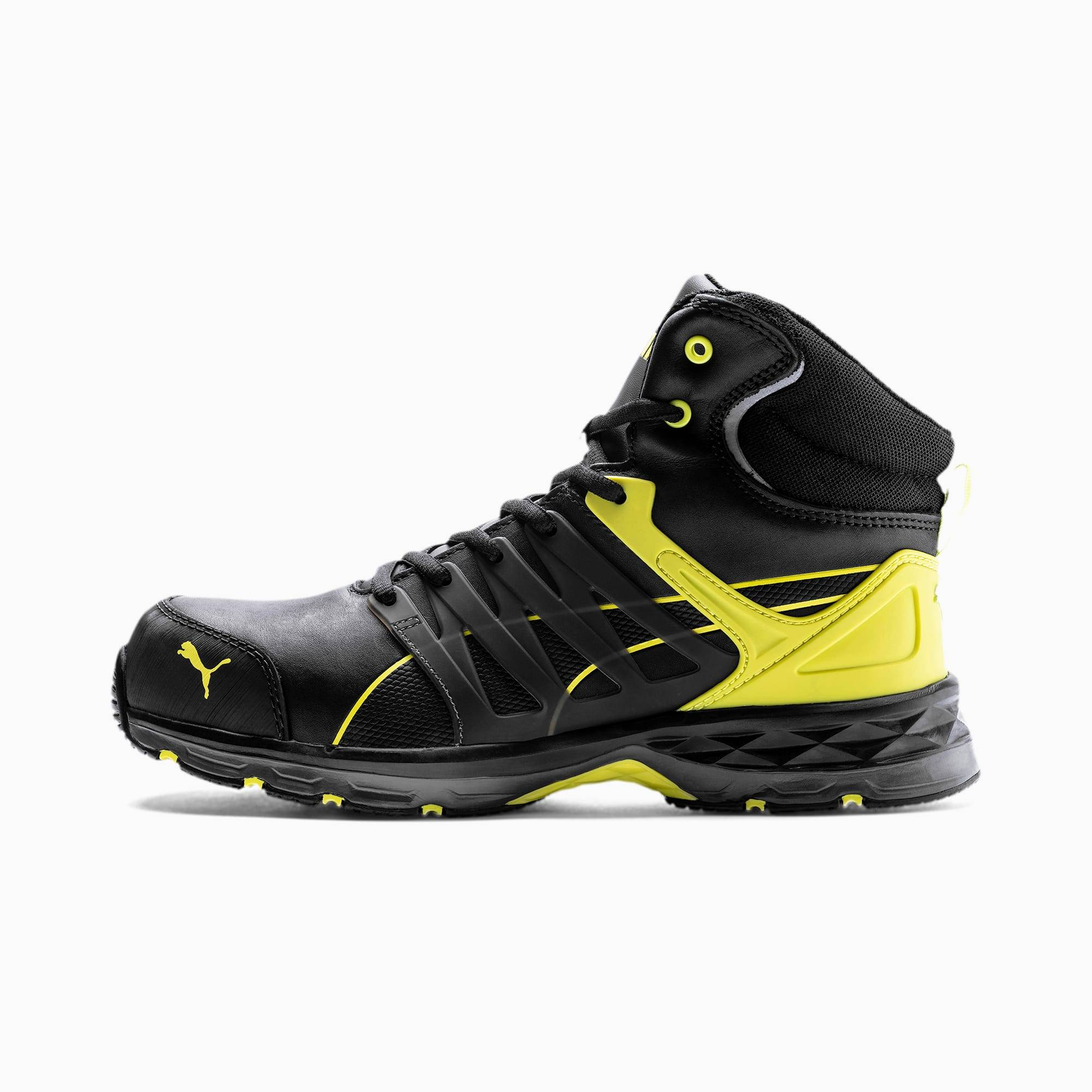 Puma Velocity 2.0 Mid S3 Esd Men's Safety Boots, Black/Yellow, size 12, Shoes