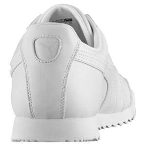 Puma Men's PUMA Roma Basic Trainers, White/Light Grey, size 3, Shoes