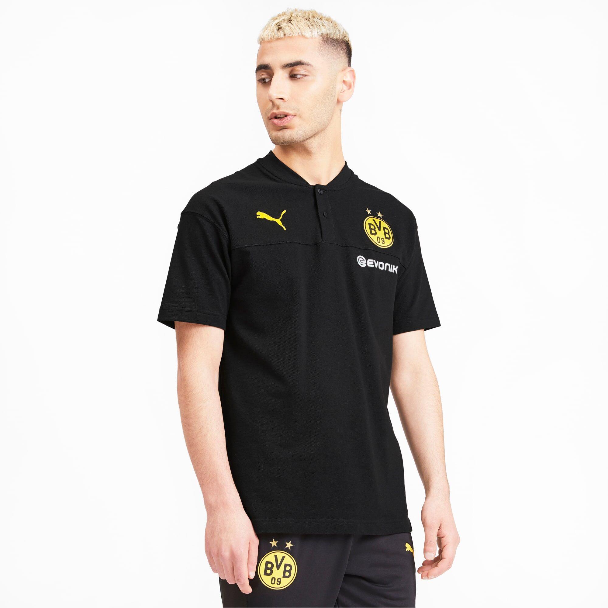 Puma BVB Casuals Men's Polo Shirt,  Black/Phantom Black, size Medium, Clothing