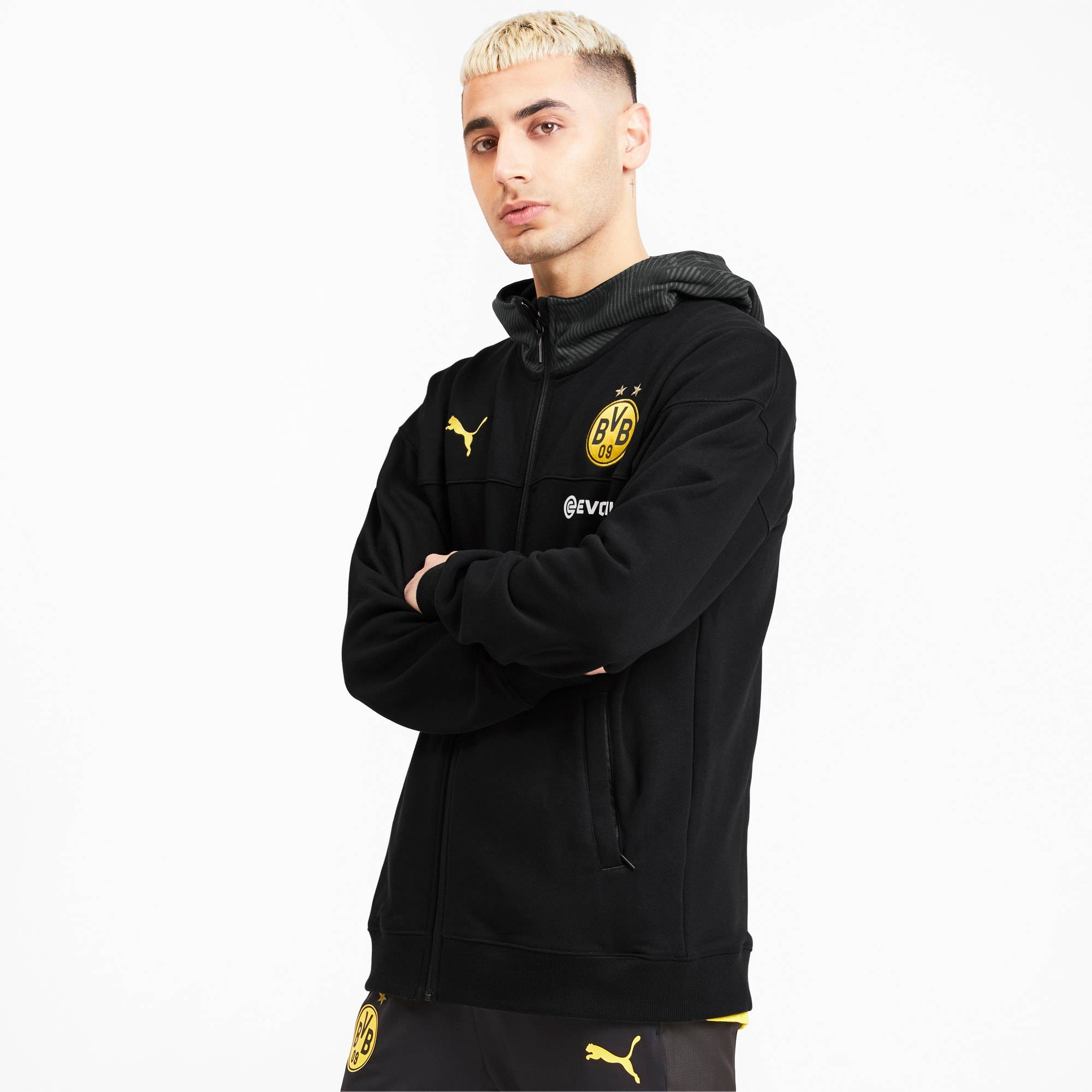 Puma BVB Casuals Men's Jacket,  Black/Phantom Black, size X Small, Clothing