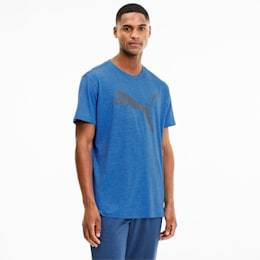 Puma Heather Cat Men's Training T-Shirt in Palace Blue Heather size Small