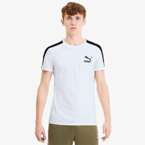 Puma Iconic Slim T7 Men's T-Shirt, White, size Medium, Clothing