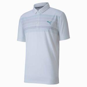 Puma Road Map Men's Golf Polo Shirt, Bright White, size Medium, Clothing