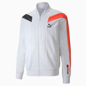 Puma T7 2020 Sport Men's Track Top Men's Jacket, White, size Medium, Clothing