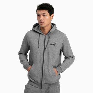 Puma Men's Essentials Full Zip Fleece Hoodie, Medium Grey Heather, size 2X Large, Clothing